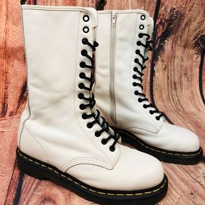 Dr. Martens White Combat Boot Womens 8
